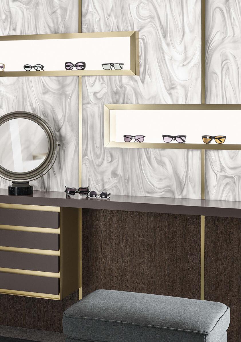 Corian for Retail Design Studio Fluid combines