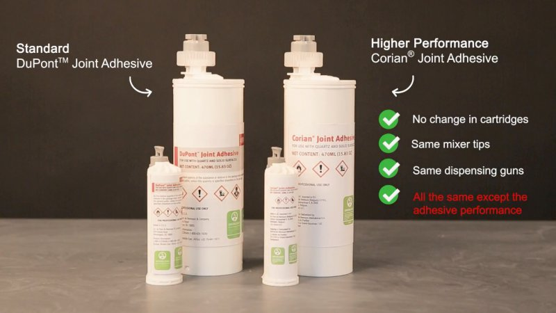 The Corian Design Business Is Pleased To Announce Introduction Of A New Higher Performing Seam Adhesive This Product Named Joint