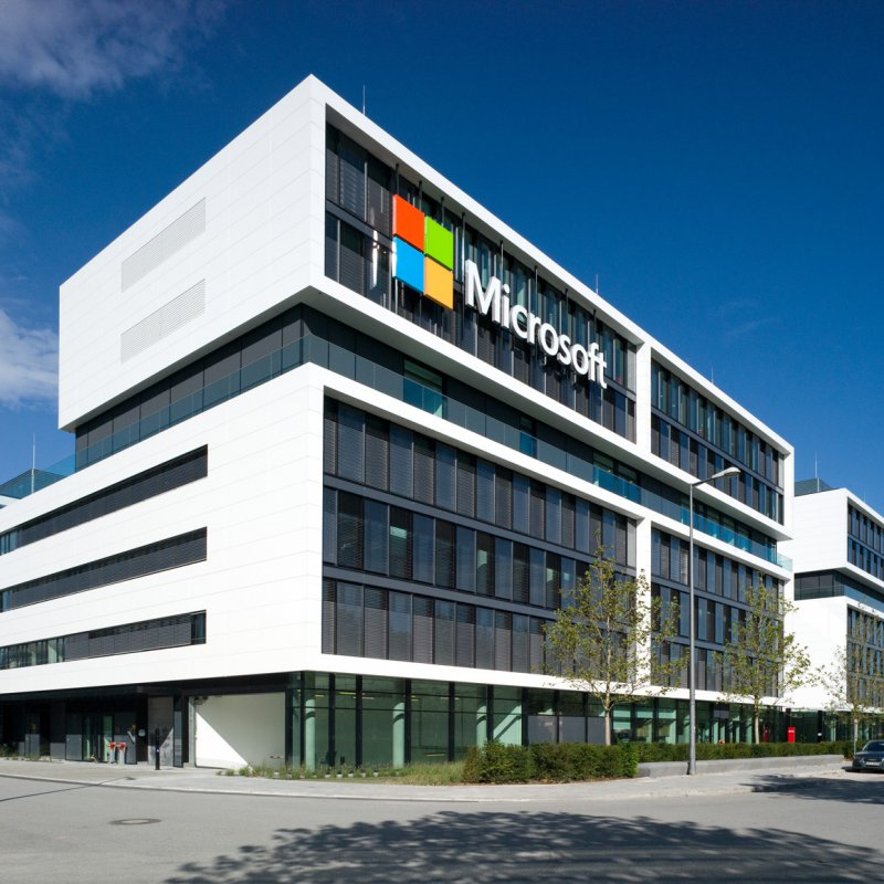 The New Microsoft Germany Hq Facade Features Fascinating