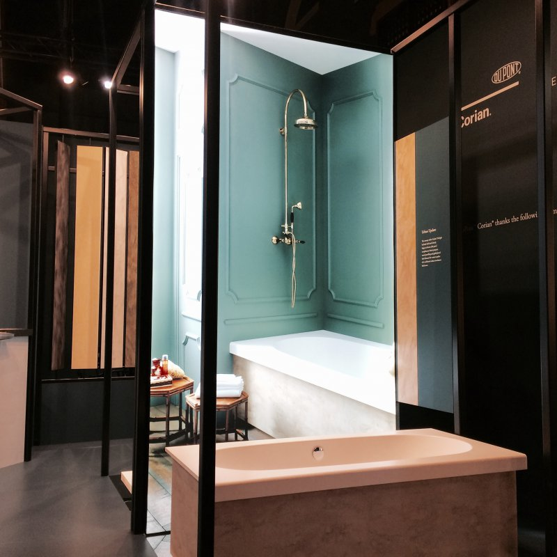 DuPont™ Corian® presents at Interieur its new collections of shower ...